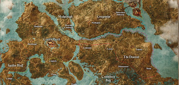 Map of Witcher 3 Map, - World Map Database