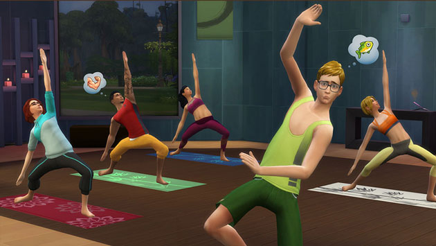 The Sims 4 Spa Day Yoga
