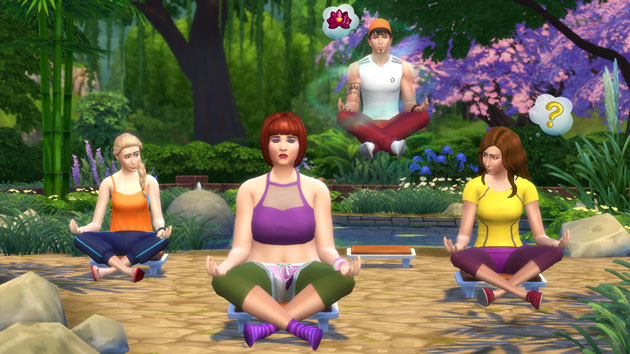 The Sims 4 Spa Day Meditation