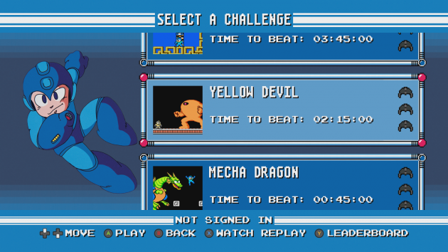 Mega Man Legacy Collection Challenges