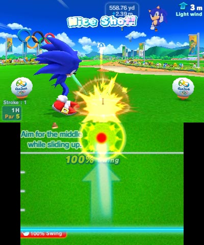 mario and sonic at the 2016 olympic games golf