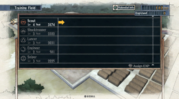Valkyria Chronicles Level Up