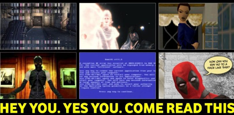 6 Games that made great use of the Fourth Wall