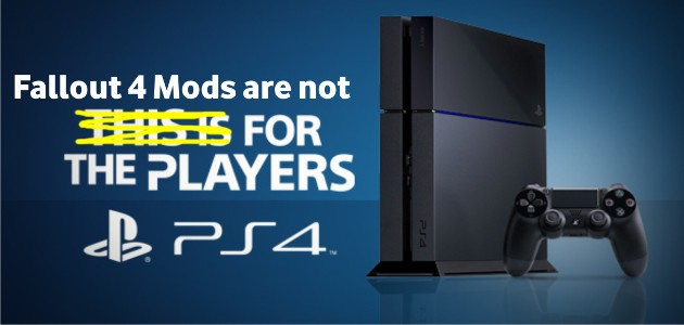 Bethesda is blaming Sony for not supporting mods on PS4 - SA