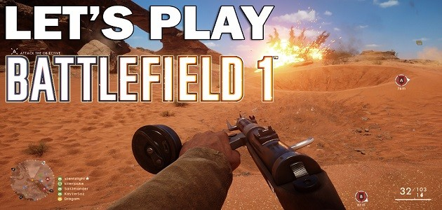 Lets play BF 1 header site
