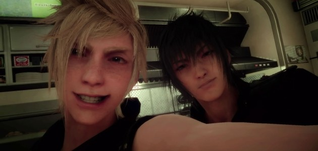 Prompto loves selfies and group shots and it reminds you of the close friendship the four share.