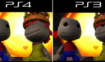 A video comparison between Little Big Planet on PS3 and PS4