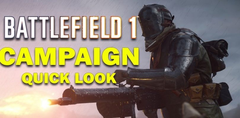 Video: Happy Battlefield 1 day! Here is our quick look at the Campaign