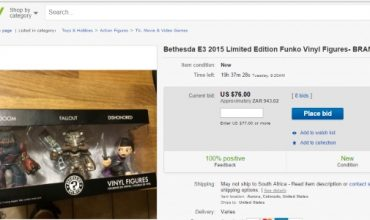 Bethesda's E3 Giveaways Are Already On eBay