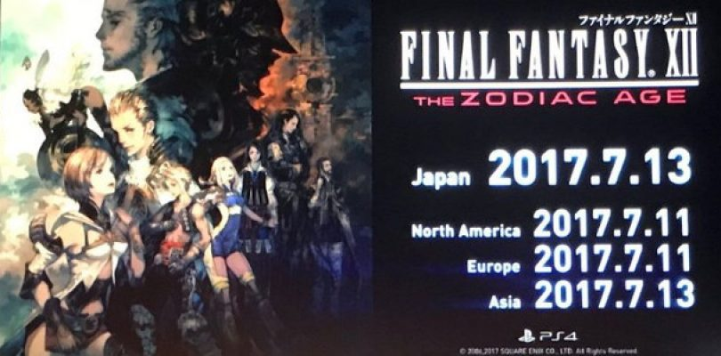 Final Fantasy XII: The Zodiac Age will release on 11 July
