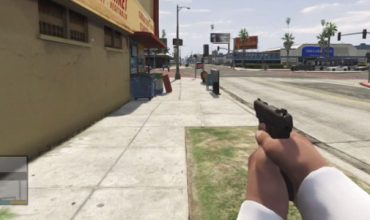 This guy is playing GTA V in first-person view on his 360