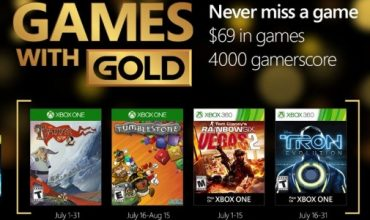 Your Games with Gold for July include The Banner Saga 2 and Tom Clancy's Rainbow Six Vegas 2