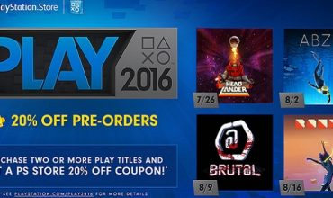 PSN PLAY 2016 Lineup Announced – Includes Discounts