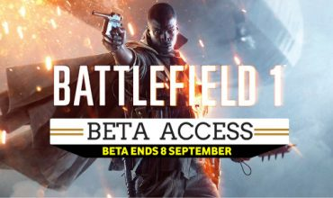 The Battlefield 1 Beta ends on Thursday