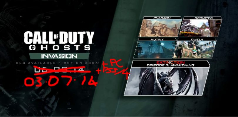 CoD: Ghosts Invasion DLC finally dated for PC and PlayStation platforms
