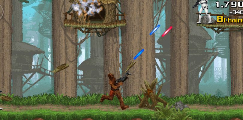 "A new ""Contra"" from Konami… starring a Wookiee"