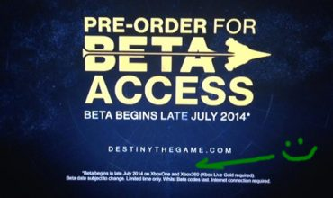 Destiny Beta lands on Xbox One and Xbox 360 end of July