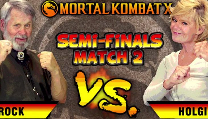 """Elders play Mortal Kombat X and tells competitor to """"eat blood"""""""