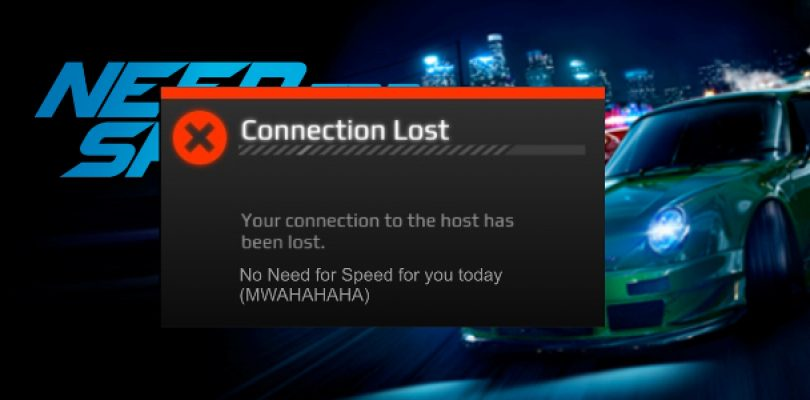 Need for Speed requires a permanent online connection to function