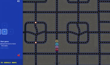 Play a game of Pac-Man on Google Maps