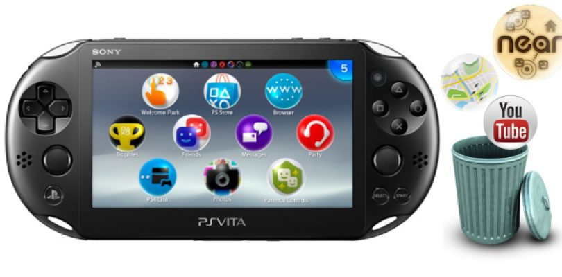 Sony drops near, youtube and map support for Vita