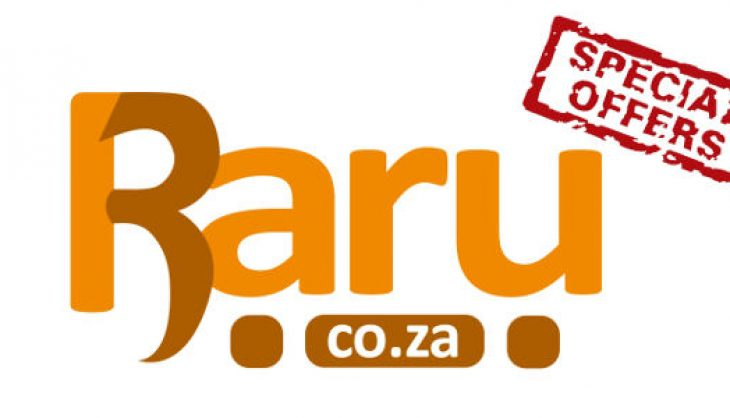 Don't miss out on the specials at RARU, SA's new online retailer!