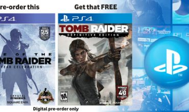 Tomb Raider: Definitive Edition is free if you pre-order Rise of the Tomb Raider on PS4