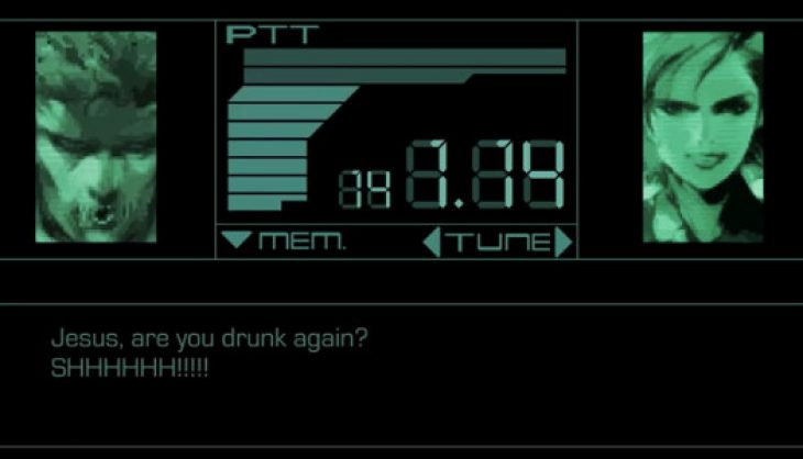 Video: What happens when Solid Snake gets drunk on a mission?