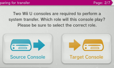 You can finally transfer data from one Wii U to another