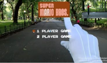 Video: Watch someone play Super Mario Bros. World 1-1 in first-person using Hololens