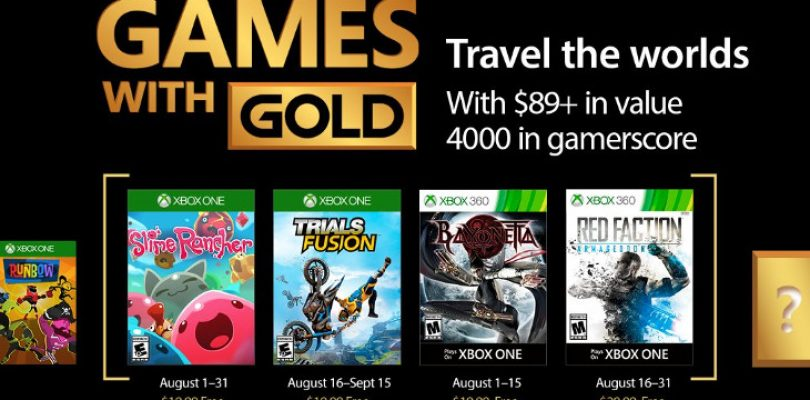 Games with Gold in August is action-packed