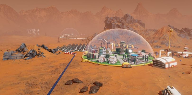 Surviving Mars is all about impressive technology, sandstorms and meteors