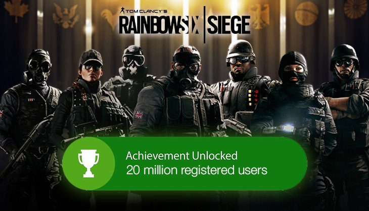 Bullet, breach and beyond. Rainbow Six Siege reaches 20 million milestone