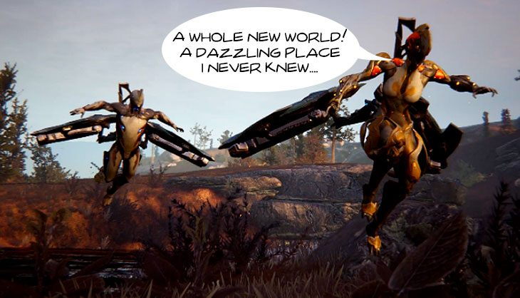 Warframe teases its Open Zone endeavor, and it looks glorious