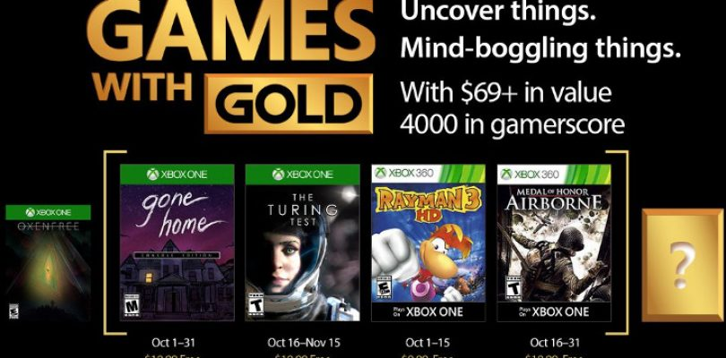 Your Games with Gold in October comes with some variety