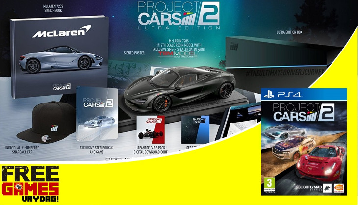 Free Games Vrydag Project CARS 2 Collectors Edition PS4