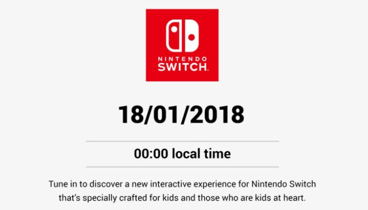 "Tune in tonight for a ""New Interactive Experience for Nintendo Switch"" Nintendo Direct"