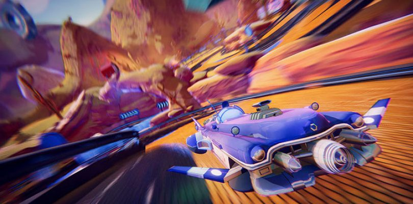 Wipeout meets Splatoon is this new futuristic racer, Trailblazers