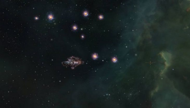 EVE Online pilots pay tribute to Stephen Hawking with beacons of light