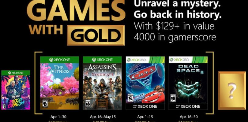 Games with Gold is no April Fools' joke next month