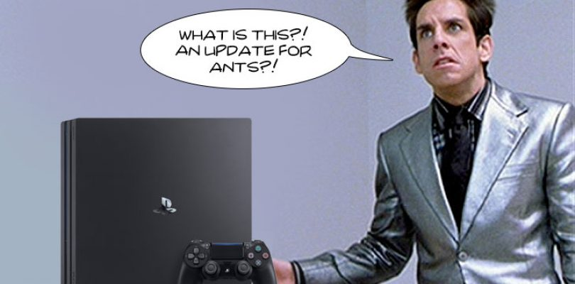Unscheduled update available for Playstation 4