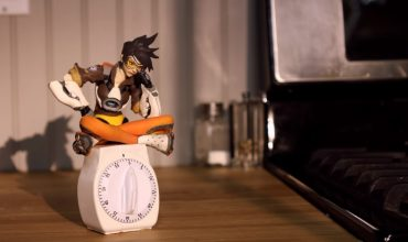 Tracer is baking us cake for Overwatch's anniversary