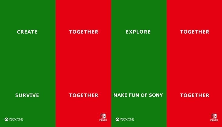Microsoft and Nintendo revel in more cross-play fun at the obvious expense of their rival