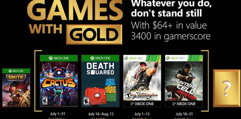 Games with Gold in July squares up with a stealthy line-up
