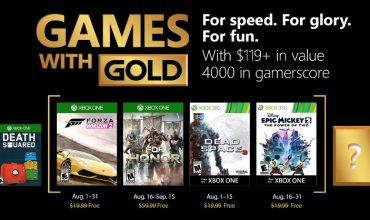Your Games with Gold in August paints a world that is fast and deadly
