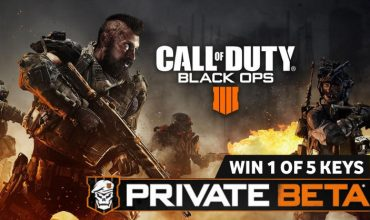 Win 1 of 5 Call of Duty: Black Ops 4 PS4 Private Beta keys
