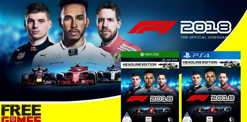 Free Games Vrydag: F1 2018 (PS4 + Xbox One)
