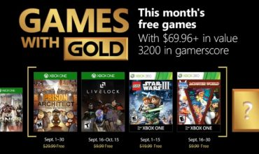 Games with Gold for September will take you to jail