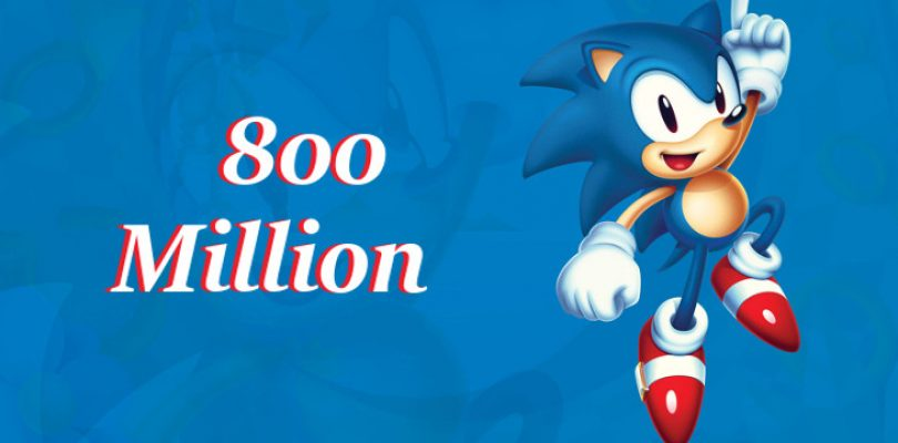800 million Sonic games have been sold by SEGA