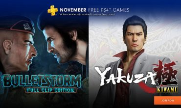 Yakuza Kiwami and Bulletstorm will be your PS Plus games in November